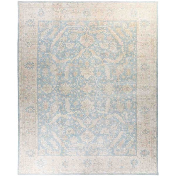 Shop Silky Oushak Hand Knotted Area Rug 11 9 X 14 8