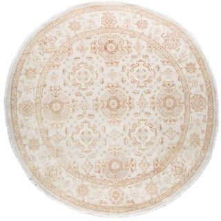 """Silky Oushak, Hand Knotted Area Rug - 8' 1"""" x 8' 1"""" - 8'1"""" x 8'1"""""""