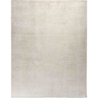 """Silky Oushak, Hand Knotted Area Rug - 8' 2"""" x 9' 9"""" - 8'2"""" x 9'9"""""""