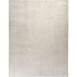 """Silky Oushak, Hand Knotted Area Rug - 8' 2"""" x 9' 9"""" - 8' 2"""" x 9' 9"""""""