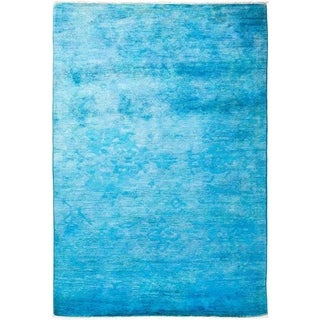 """Vibrance, Hand Knotted Area Rug - 4' 2"""" x 6' 3"""" - 4'2"""" x 6'3"""""""
