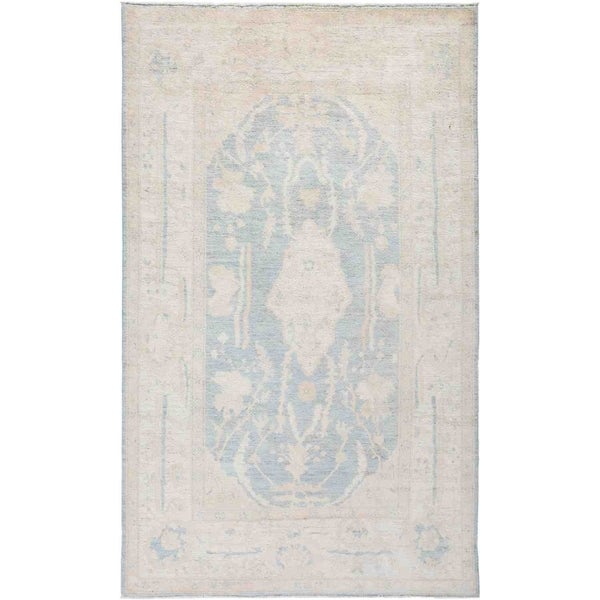 """Silky Oushak, Hand Knotted Area Rug - 4' 9"""" x 7' 9"""" - 4'9"""" x 7'9"""""""