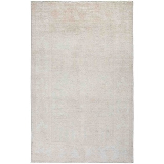 """Silky Oushak, Hand Knotted Area Rug - 4' 10"""" x 7' 8"""" - 4'10"""" x 7'8""""/Surplus"""