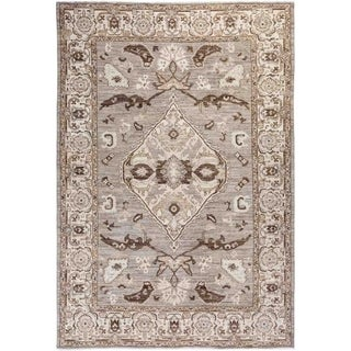 """Oushak, Hand Knotted Area Rug - 6' 1"""" x 8' 7"""" - 6'1"""" x 8'7"""""""