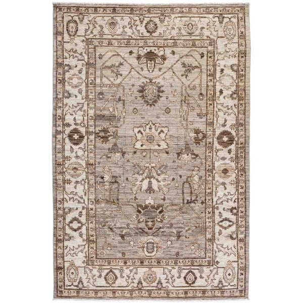 """Oushak, Hand Knotted Area Rug - 5' 9"""" x 8' 7"""" - 5'9"""" x 8'7"""""""