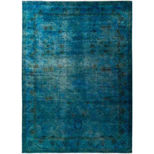 """Vibrance, Hand Knotted Area Rug - 9' 0"""" x 12' 6"""" - 9' x 12'6"""""""