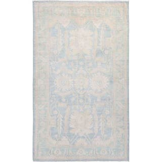 """Silky Oushak, Hand Knotted Area Rug - 4' 10"""" x 7' 10"""" - 4' 10"""" x 7' 10"""""""