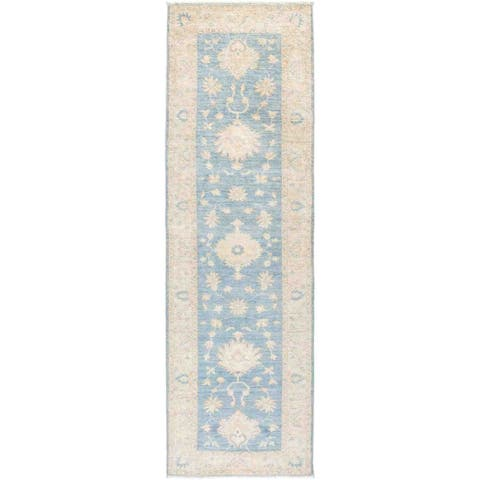"Silky Oushak, Hand Knotted Runner Rug - 2' 7"" x 8' 8"" - 2' 7"" x 8' 8"""