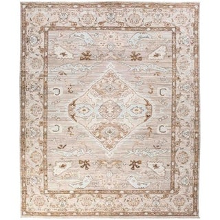 """Oushak, Hand Knotted Area Rug - 8' 0"""" x 9' 9"""" - 8' x 9'9"""""""