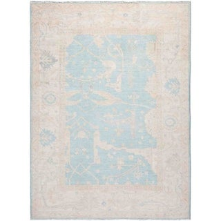 """Silky Oushak, Hand Knotted Area Rug - 5' 4"""" x 7' 2"""" - 5'4"""" x 7'2"""""""