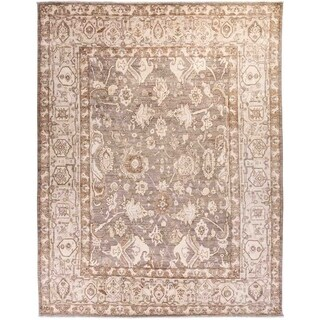 """Oushak, Hand Knotted Area Rug - 8' 10"""" x 11' 10"""" - 8'10"""" x 11'10"""""""