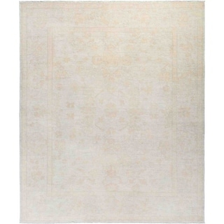 """Silky Oushak, Hand Knotted Area Rug - 8' 1"""" x 9' 8"""" - 8'1"""" x 9'8"""""""