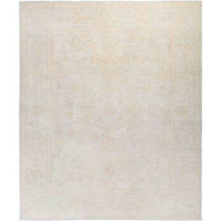 """Silky Oushak, Hand Knotted Area Rug - 8' 1"""" x 9' 8"""" - 8' 1"""" x 9' 8"""""""