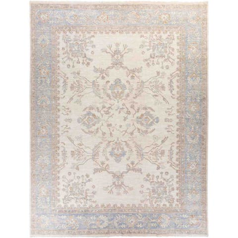 "Oushak, Hand Knotted Area Rug - 9' 3"" x 12' 2"" - 9'3"" x 12'2""/Surplus"