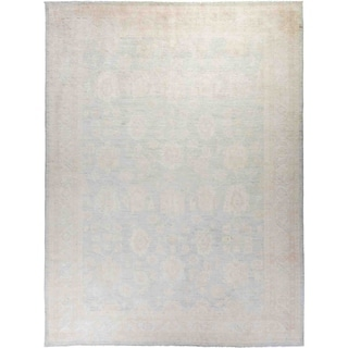 """Silky Oushak, Hand Knotted Area Rug - 9' 0"""" x 11' 10"""" - 9' x 11'10"""""""