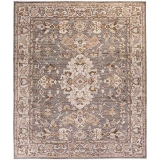 """Oushak, Hand Knotted Area Rug - 8' 0"""" x 9' 7"""" - 8' x 9'7"""""""