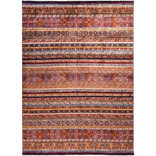 """Tribal, Hand Knotted Area Rug - 9' 3"""" x 12' 2"""" - 9'3"""" x 12'2"""""""