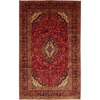 """Kashan, Hand Knotted Area Rug - 7' 4"""" x 11' 9"""" - 7' 4"""" x 11' 9"""""""