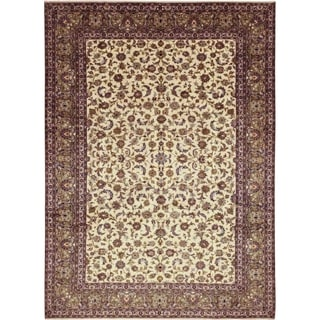 """Kashan, Hand Knotted Area Rug - 9' 8"""" x 13' 5"""" - 9'8"""" x 13'5"""""""