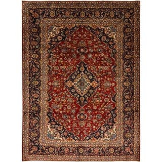 """Kashan, Hand Knotted Area Rug - 8' 3"""" x 11' 3"""" - 8' 3"""" x 11' 3"""""""