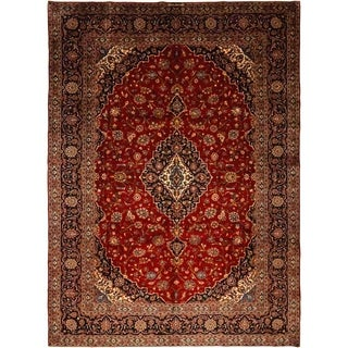 """Kashan, Hand Knotted Area Rug - 10' 0"""" x 14' 0"""" - 10' x 14'"""
