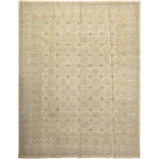 Traditional Oriental Khotan One-of-a-Kind Hand-Knotted Area Rug - 9 x 12