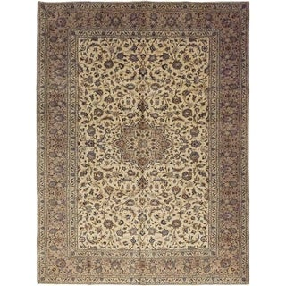 """Kashan, Hand Knotted Area Rug - 9' 7"""" x 13' 2"""" - 9'7"""" x 13'2"""""""