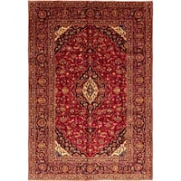 """Kashan, Hand Knotted Area Rug - 7' 2"""" x 10' 6"""" - 7' 2"""" x 10' 6"""""""
