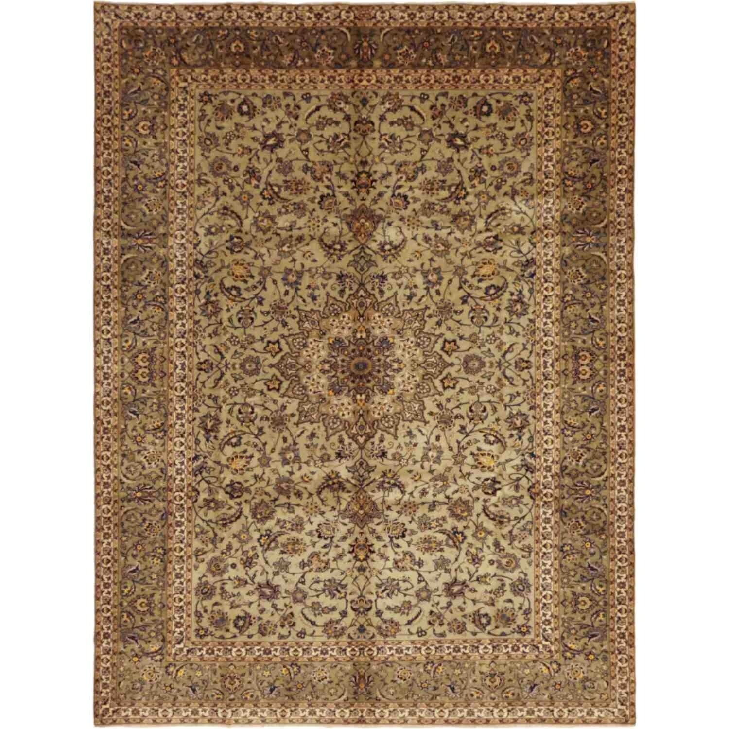Kashan Hand Knotted Area Rug 8