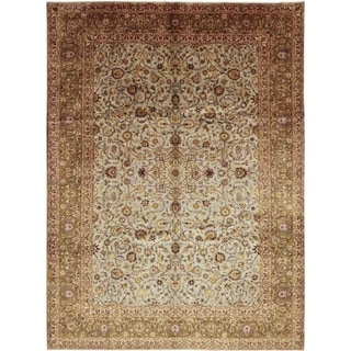 """Kashan, Hand Knotted Area Rug - 10' 0"""" x 13' 7"""" - 10' x 13'7"""""""