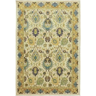 """Eclectic, Hand Knotted Area Rug - 6' 1"""" x 8' 10"""" - 6'1"""" x 8'10"""""""
