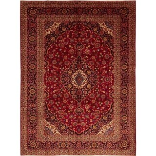 """Kashan, Hand Knotted Area Rug - 8' 3"""" x 11' 5"""" - 8'3"""" x 11'5"""""""