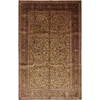 """Kashan, Hand Knotted Area Rug - 8' 2"""" x 12' 8"""" - 8' 2"""" x 12' 8"""""""