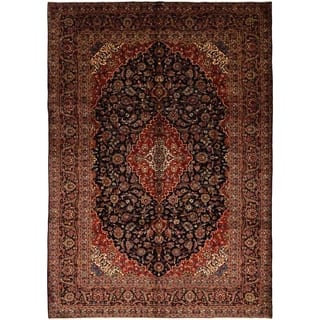 """Kashan, Hand Knotted Area Rug - 8' 10"""" x 12' 8"""" - 8' 10"""" x 12' 8"""""""