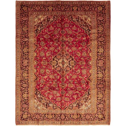 """Kashan, Hand Knotted Area Rug - 8' 0"""" x 11' 0"""" - 8' x 11'"""