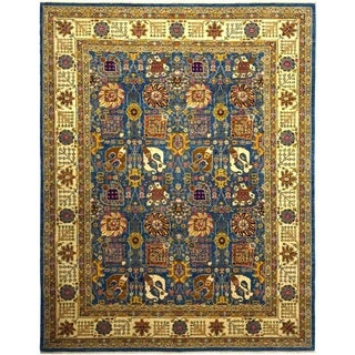 """Eclectic, Hand Knotted Area Rug - 9' 1"""" x 11' 8"""" - 9'1"""" x 11'8"""""""