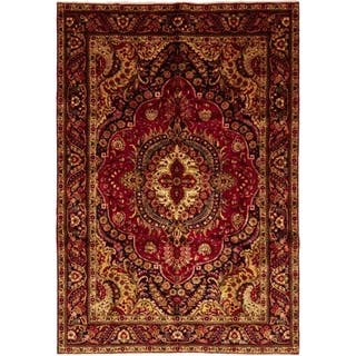 """Tabriz, Hand Knotted Area Rug - 6' 8"""" x 10' 0"""" - 6' 8"""" x 10' 0"""""""