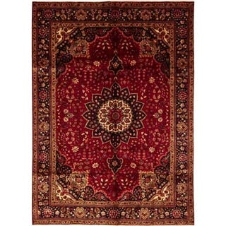 """Tabriz, Hand Knotted Area Rug - 7' 0"""" x 9' 10"""" - 7' 0"""" x 9' 10"""""""