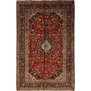 "Kashan, Hand Knotted Area Rug - 7' 4"" x 11' 3"" - 7'4"" x 11'3"""