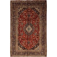 """Kashan, Hand Knotted Area Rug - 7' 4"""" x 11' 3"""" - 7' 4"""" x 11' 3"""""""