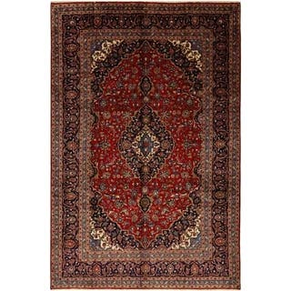 """Kashan, Hand Knotted Area Rug - 8' 0"""" x 12' 0"""" - 8' 0"""" x 12' 0"""""""