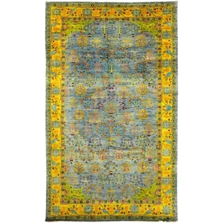 "Eclectic, Hand Knotted Area Rug - 8' 3"" x 13' 10"" - 8'3"" x 13'10"""