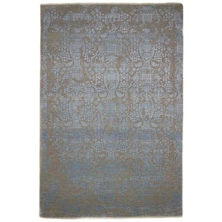"""Erase, Hand Knotted Area Rug - 6' 1"""" x 9' 1"""" - 6'1"""" x 9'1"""""""