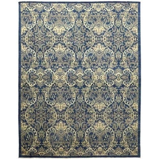 """Eclectic, Hand Knotted Area Rug - 9' 1"""" x 11' 10"""" - 9'1"""" x 11'10"""""""