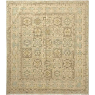 Traditional Oriental Khotan One-of-a-Kind Hand-Knotted Area Rug - 8 x 10