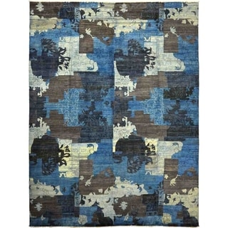 "Eclectic, Hand Knotted Area Rug - 10' 0"" x 13' 6"" - 10' x 13'6"""
