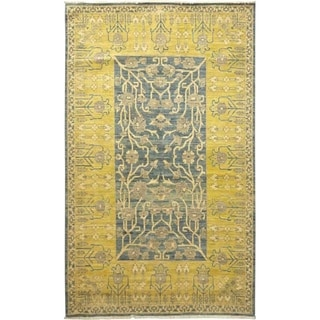 """Eclectic, Hand Knotted Area Rug - 6' 0"""" x 9' 7"""" - 6' x 9'7"""""""