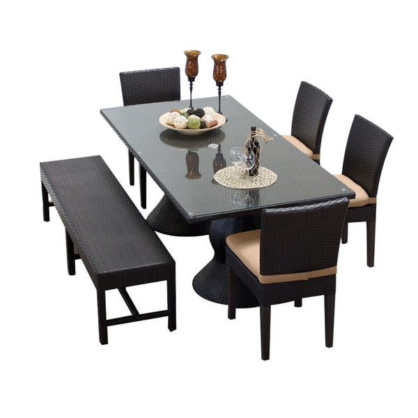 Rectangular Dining Table With Bench: Shop Napa Rectangular Outdoor Patio Dining Table With 4