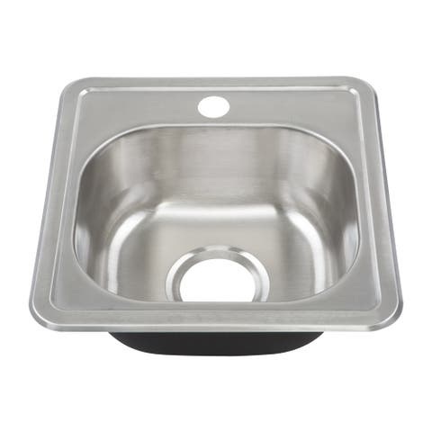 Yosemite Home Decor 22-Gauge Stainless Steel Drop In Bar Sink - 15 x 15 x 6