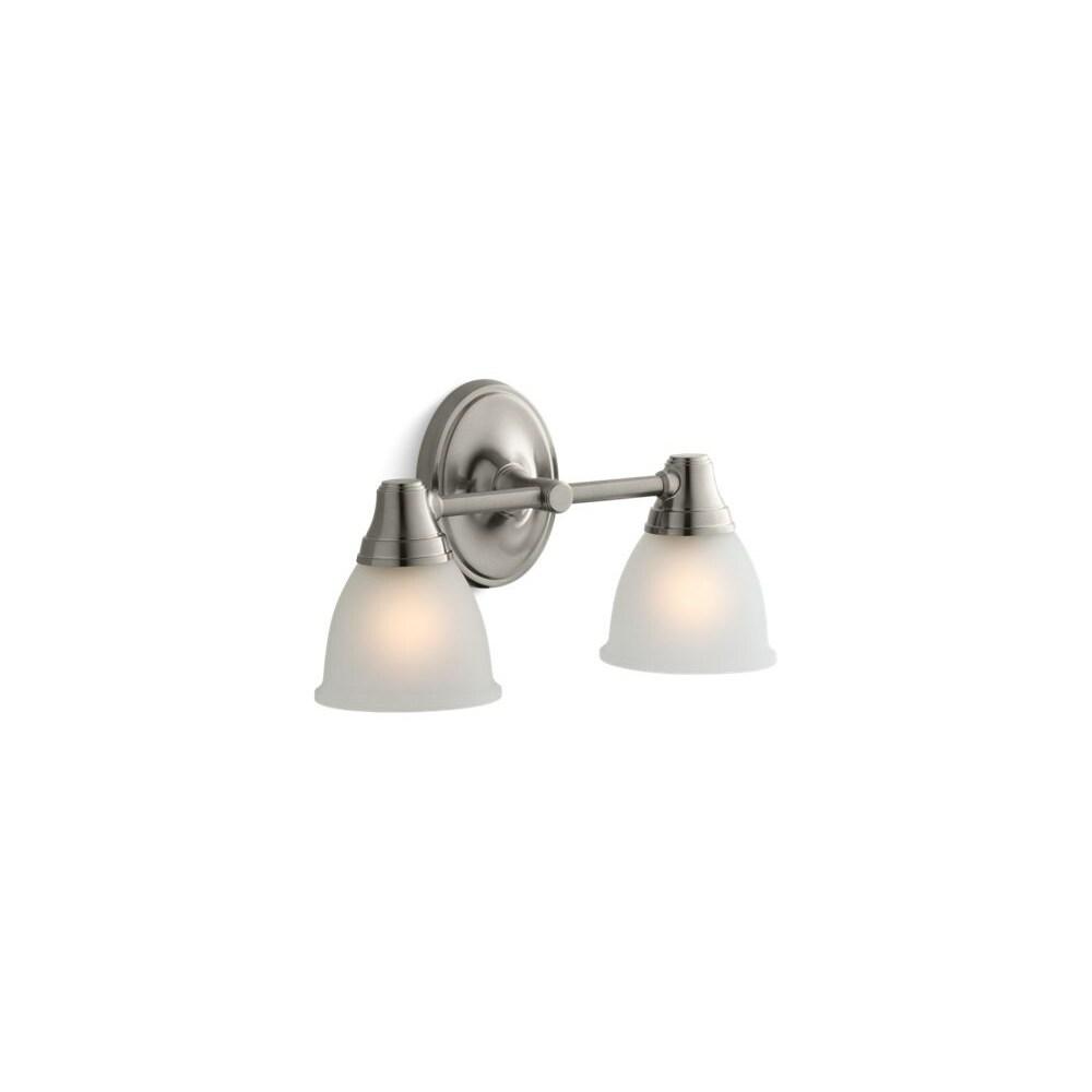 KOHLER K-11365-B Fort/é Transitional Single Wall Sconce Vibrant Brushed Nickel